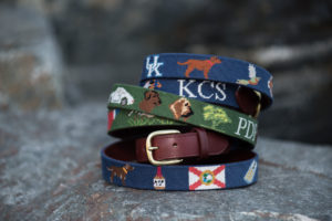 needlepoint_hunting_belts_stacked