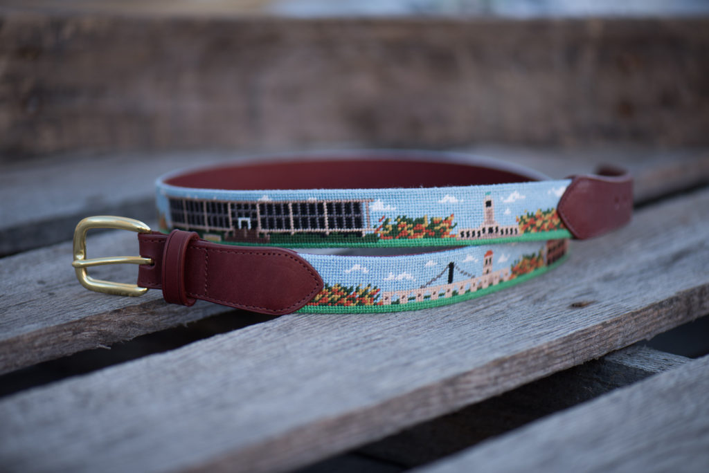 lsu campus needlepoint belt student union