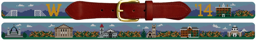 Williams College needlepoint belt graduation gift