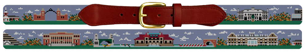 Harvard University Needlepoint Belt