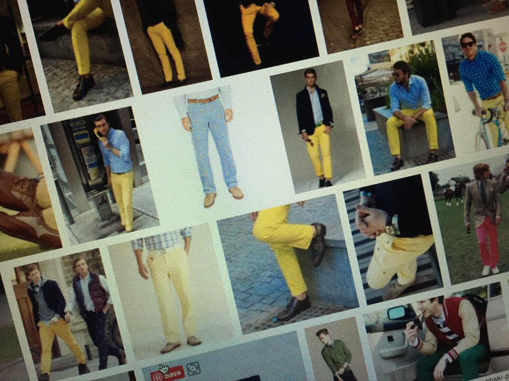 Men's Preppy Yellow Pants for Easter