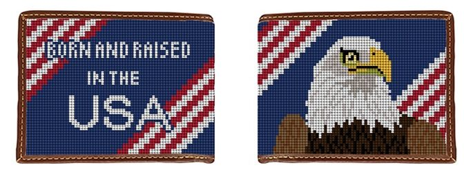 American Eagle Needlepoint Wallet