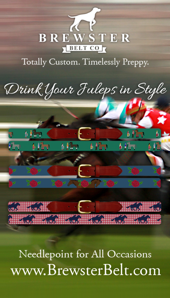 Brewster Belt Men's Kentucky Derby Needlepoint Belts