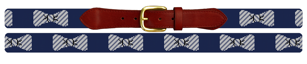 Seersucker Bow Tie Needlepoint Belt