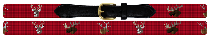 Big Game Hunting Needlepoint Belt