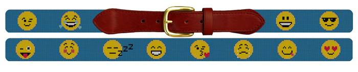 Emojis Needlepoint Belt