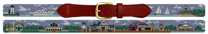 Marthas Vineyard Needlepoint Belt