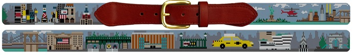 New York City Needlepoint Belt