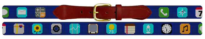 Phone App Needlepoint Belt