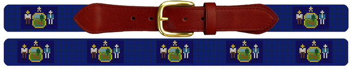 2017 Eclipse Maine Flag Needlepoint Belt