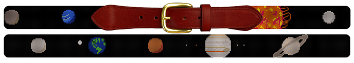Solar System Planet Needlepoint Belt Eclipse