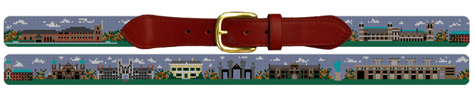 Princeton University rowing crew needlepoint belt