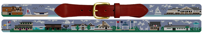 Avalon New Jersey Needlepoint Belt Gift for Men