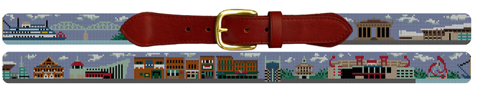 Nashville TN Needlepoint Belt Gift