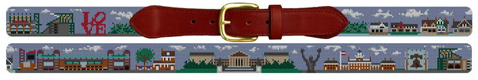 Philadelphia Landmark Needlepoint Belt Gift for Men