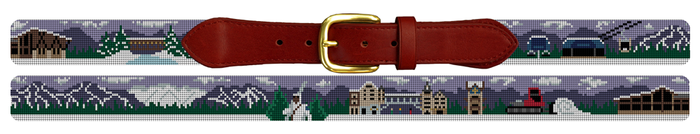 Vail, Colorado Needlepoint Belt - Vail gift idea for men